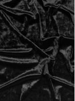 Elbiselik Desensiz - Düz Kışlık Siyah Cam Kırığı Kadife Kumaş - K9885