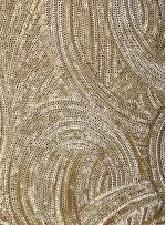 3mm Yoğun Payetli Abiye Elbiselik Gold Kumaş - K9891