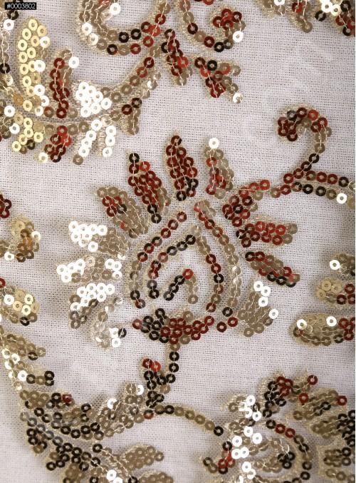 Abiye Elbiselik Tül Üzeri Gold Payetli Kumaş - K9900