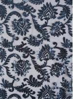 Abiye Elbiselik Tül Üzeri Lacivert Payetli Kumaş - K9900