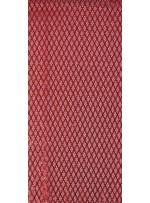 File Üzeri Baklava Desenli Kırmızı Payetli Kumaş - K9906