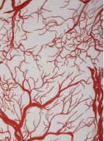 Abiye Elbiselik Ağaç Desenli Kırmızı Nakışlı Kumaş - K9918