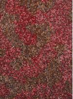 Çift Renk Kırmızı Bakır Kamuflaj Payetli Desenli Özel Abiye Kumaş - KAB17