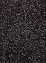 Karışık Desenli Zırh Görünümlü Payetli Siyah Kumaş - KAB25