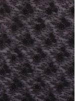 Çiçek Desenli Boncuklu Siyah Özel Abiyelik Kumaş - KAP11