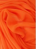 Elbiselik Turuncu c141 %100 İpek Jorjet Şifon Kumaş - K6003