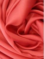 Elbiselik Kırmızı c110 %100 Taşlanmış İpek Saten Kumaş - G002