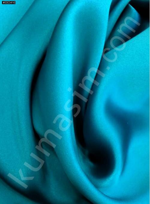 Elbiselik Petrol c150 %100 İpek Saten Kumaş - G009