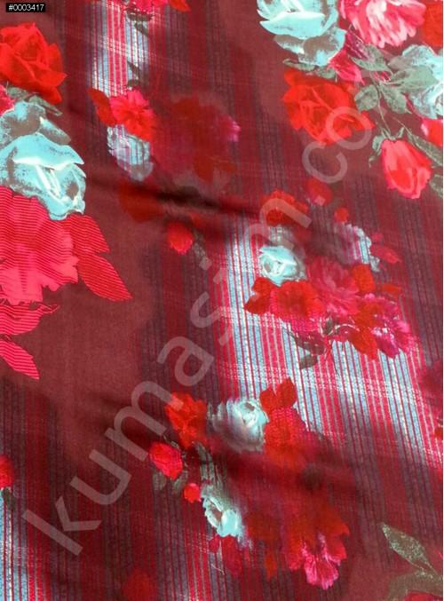Elbiselik Fuşya c111 %95 İpek - %5 Likra Saten Kumaş - G010