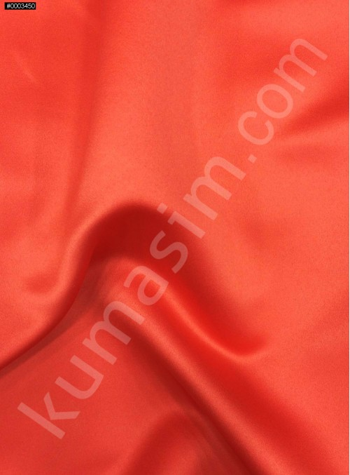 Elbiselik Açık Kırmızı Polyester Mat Dupont Saten Kumaş - G029