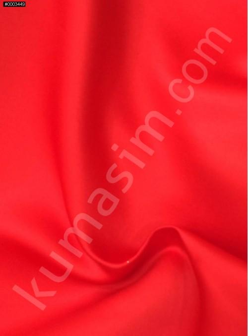 Elbiselik Kırmızı Polyester Mat Dupont Saten Kumaş - G029