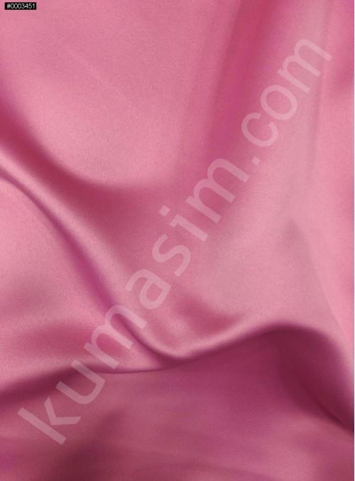 Elbiselik Pembe Polyester Mat Dupont Saten Kumaş - G029