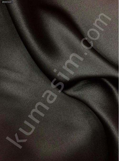 Elbiselik Siyah Polyester Mat Dupont Saten Kumaş - G029