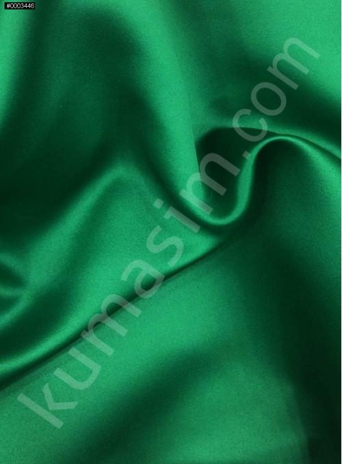 Elbiselik Yeşil Polyester Mat Dupont Saten Kumaş - G029