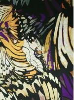 Desenli Abiyelik ve Günlük İpek Empirme Saten Kumaş - G034
