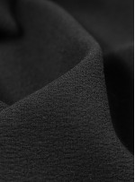 Dökümlü Abiye Elbiselik İtalyan Krep c10 Siyah Kumaş - G050