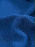 Dökümlü Abiye Elbiselik İtalyan Krep c24 Saks Kumaş - G050