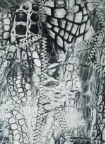 Abiye Kıyafetlik Gri - Siyah İpek Empirme Saten Kumaş - G057