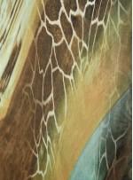 Karışık Desenli İpek Empirme Saten Kumaş - G058