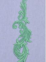 Gelinlik ve Nişanlık Yaprak Desenli Yeşil Aplike - ZD02